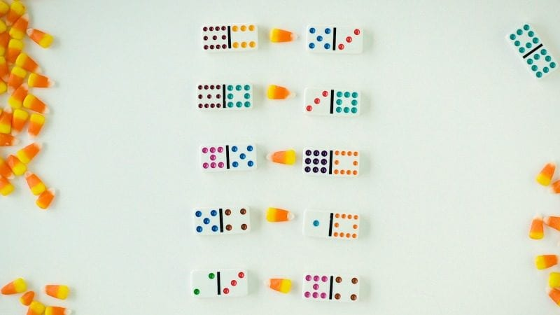 Candy Corn Math Dominoes -WeAreTeachers