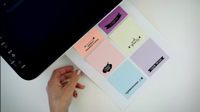printing on post its how to plus free templates for teachers