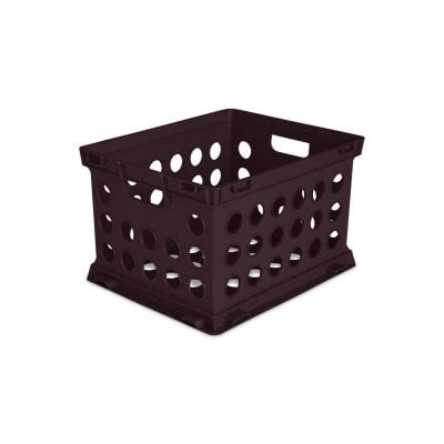 Brown file crate -- inexpensive walmart classroom buys