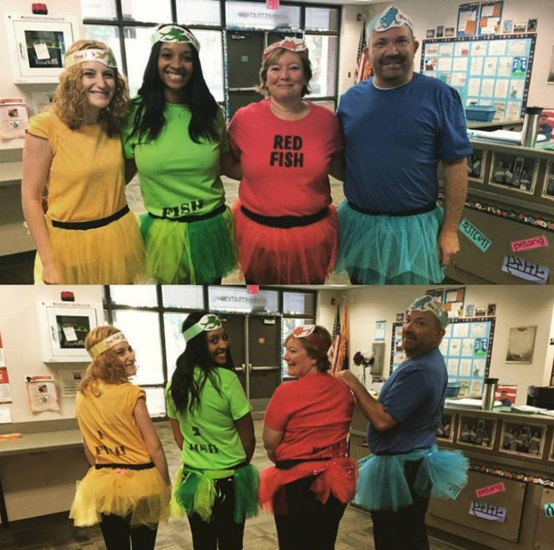 1 Fish, 2 Fish, Red Fish, Blue Fish Halloween Costume for Teachers