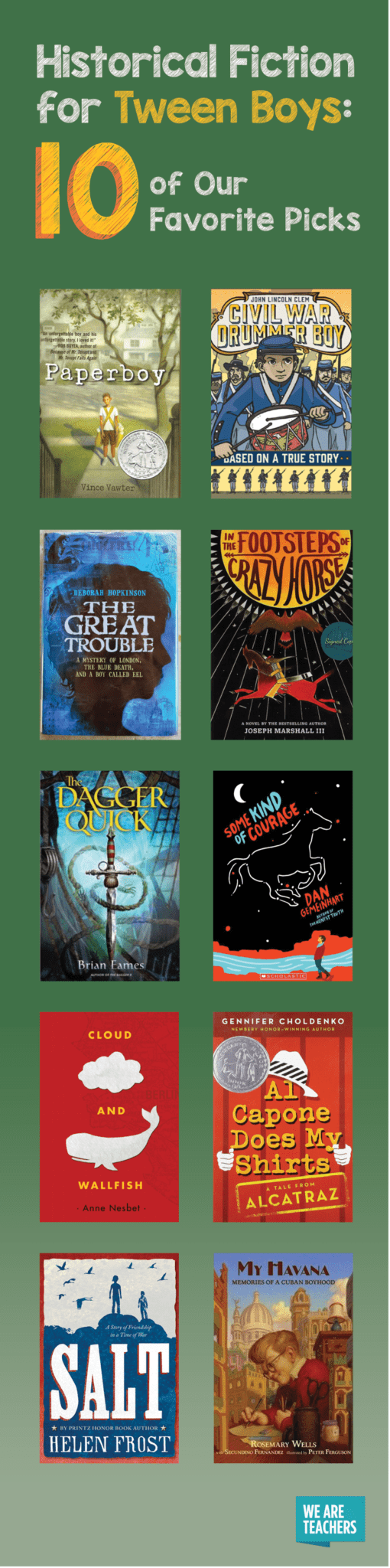 Historical Fiction For Tween Boys Top 10 Picks Weareteachers