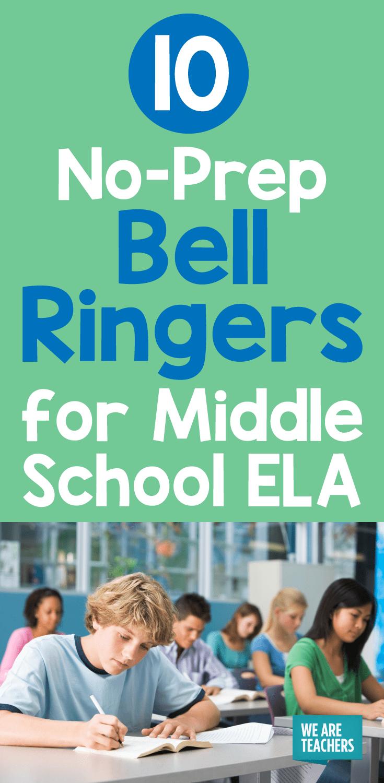 bellringers for common core language arts