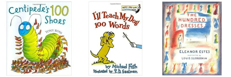 Three books with 100 in the title including Centipede's 100 Shoes