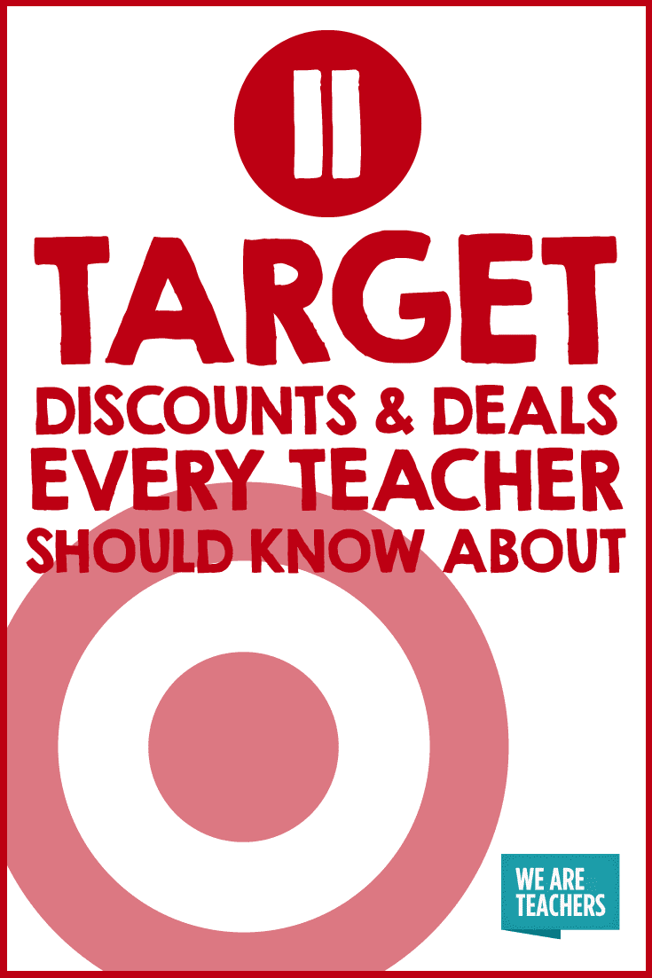 target discounts and deals every teacher should know about