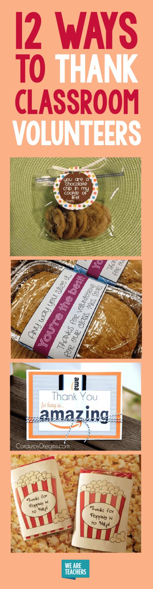 Classroom Volunteer Appreciation Gifts 12 Ways To Thank Volunteers