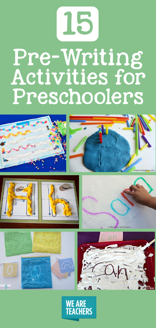 Pre Writing Activities For Preschoolers Weareteachers
