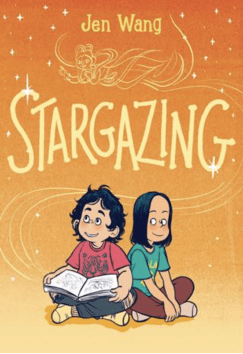 Book cover of Stargazing--one of our fave great middle school graphic novels!