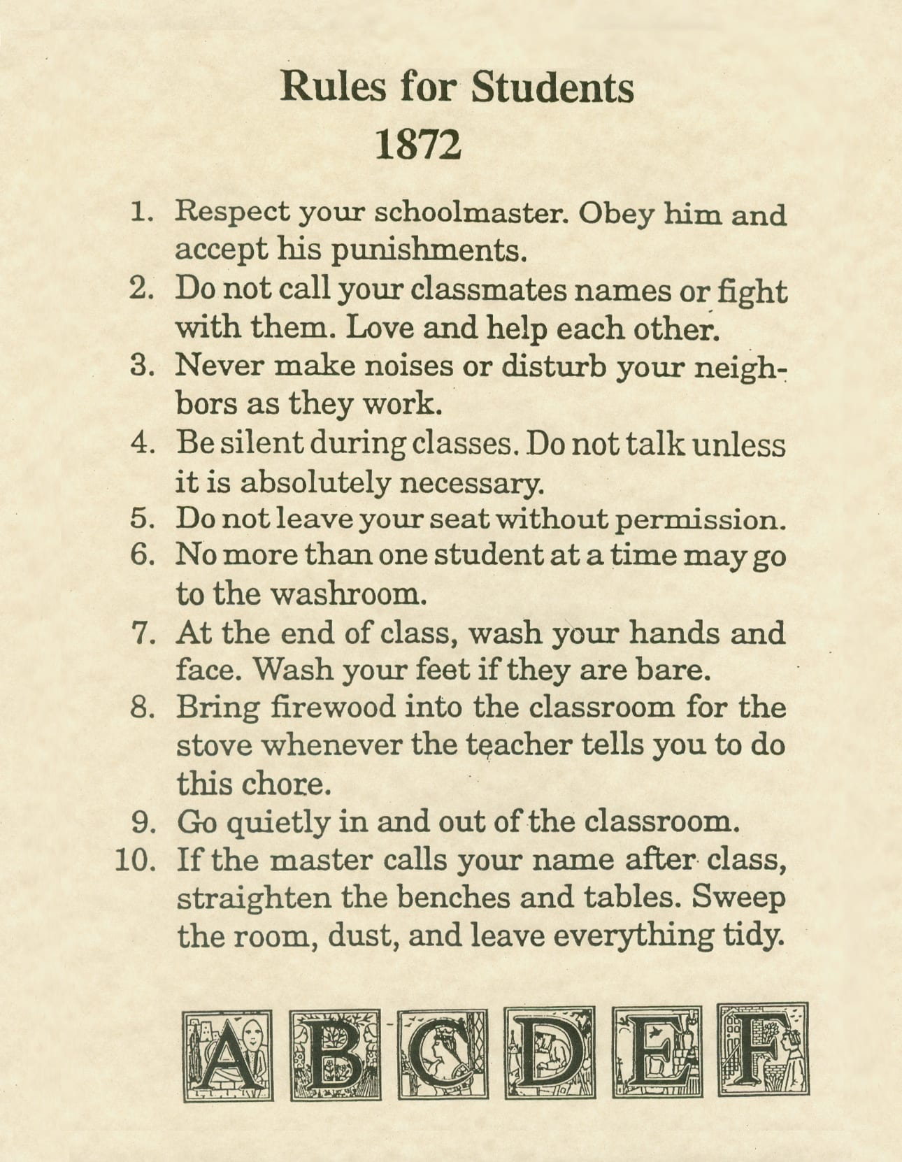 Rules For A Girls Bedroom: Retro School Rules That Will Definitely Make You LOL