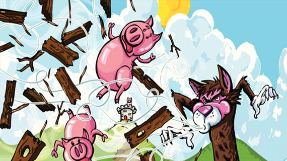 The Best Fractured Fairy Tales: The Three Little Pigs