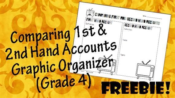 Comparing 1sr & 2nd Hand Accounts Graphic Organizer