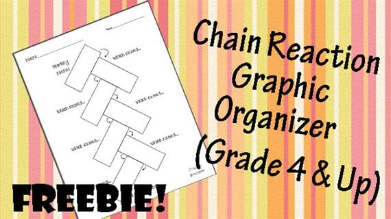 photo regarding Cause and Effect Graphic Organizer Printable named Cost-free Printable of the 7 days: Chain Response/Lead to-and-Influence