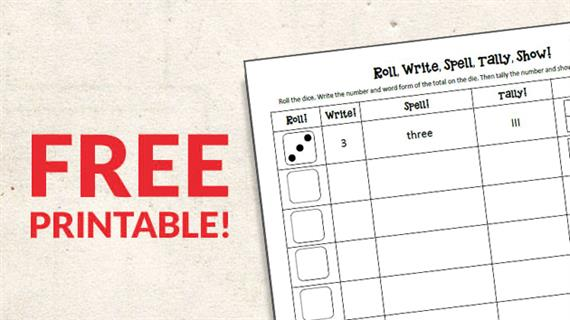 image about Dice Printable referred to as Absolutely free Printable: Roll Cube, Compose, and Tally the Figures