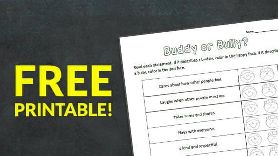 Free Printable: Buddy or Bully? Worksheet - WeAreTeachers