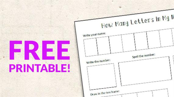 Free Printable: Counting the Letters in Your Name - WeAreTeachers