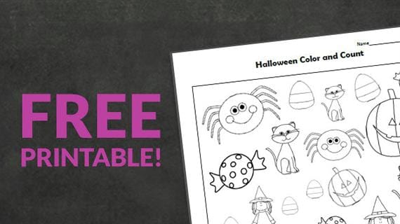 Free Printable: Halloween Color And Count - We Are Teachers