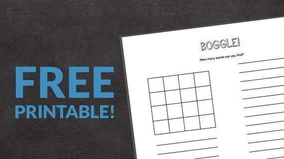 Free Printable: Boggle Template for Spelling! - WeAreTeachers