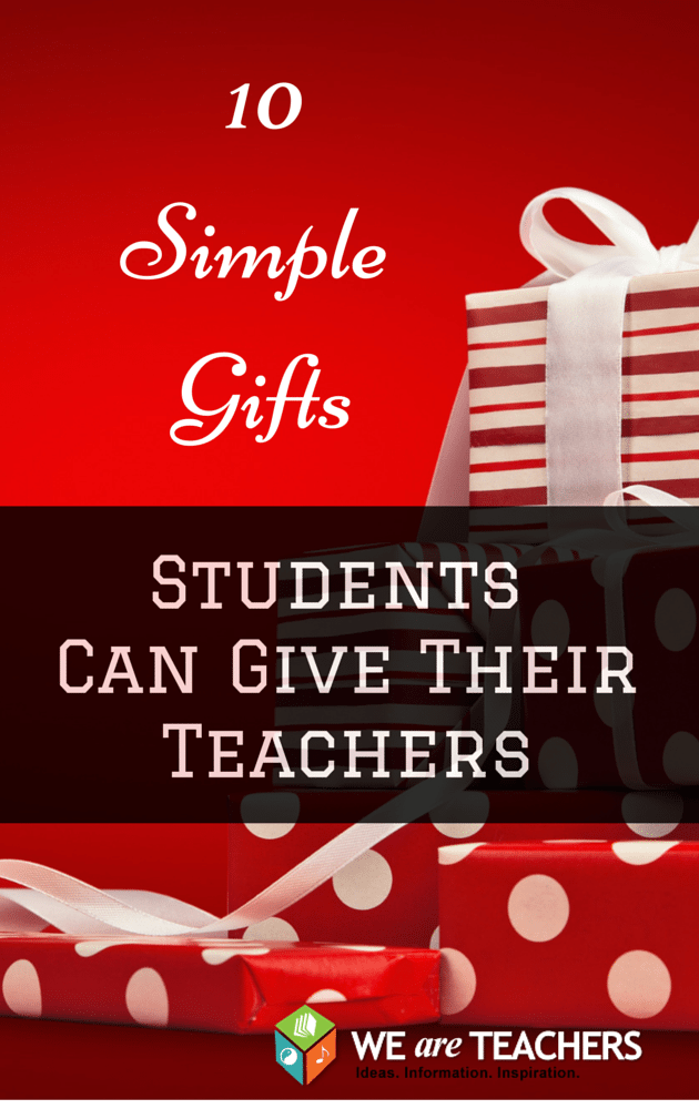 Easy, FREE gifts for teachers