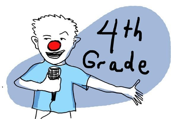 Fourth-graders are class clowns