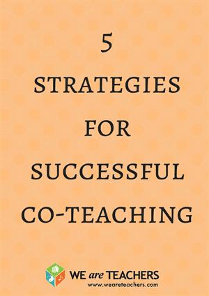 5 strategies%0Afor %0Asuccessful%0Aco-teaching