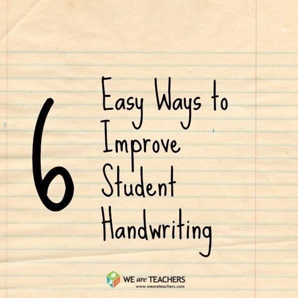6 Easy Ways to Improve Student Handwriting
