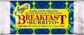 Amy's breakfast burrito