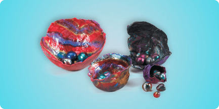 Chihuly-Inspired Nested Bowls and Marbles DIY Gift