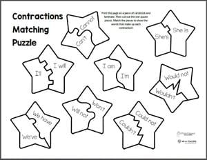 Contractions Matching Puzzle preview