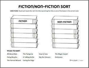Fiction Non-Fiction Sort preview
