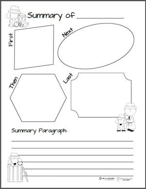 First Next Then Last Graphic Organizer - preview