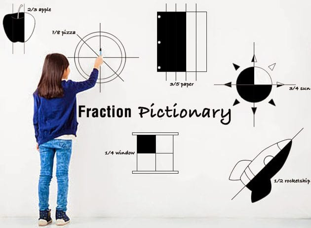 fraction games for kids pictionary