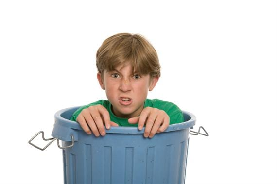 get out of the trash can