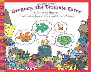 Book cover for Gregory the Terrible Eater example of nutrition books for kids