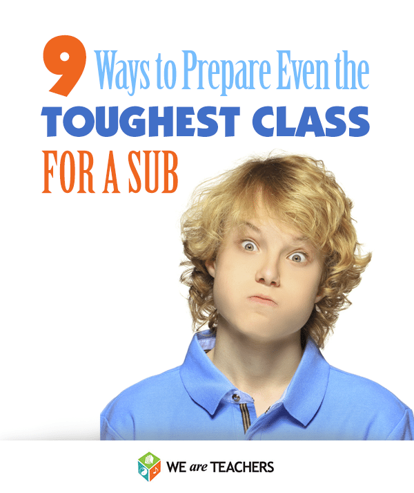 How to Prepare Your Class for a Sub