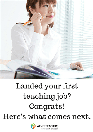 Just landed your first teaching