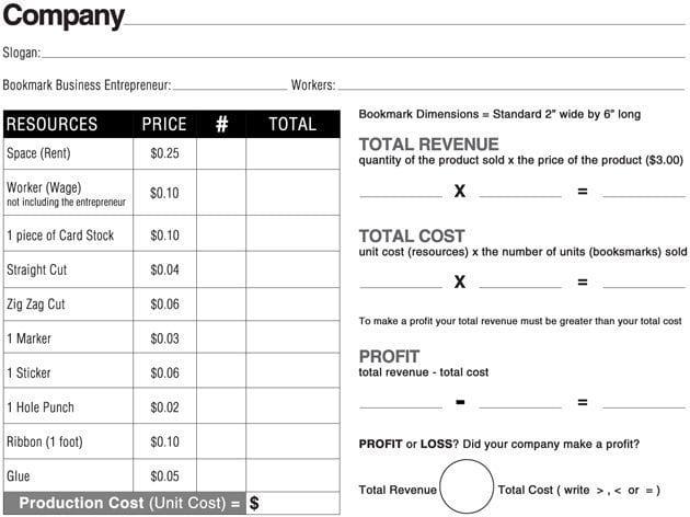 Kid-Bookmark-Business-Recording-Sheet