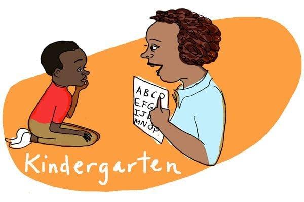 The joys of teaching kindergarten