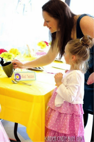 Host a kindergarten tea party