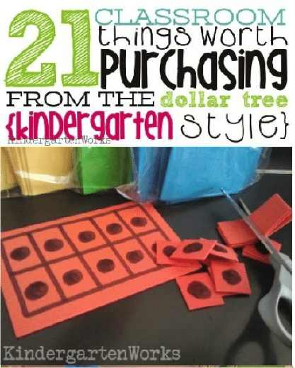 Things to buy for kindergarten from the dollar store