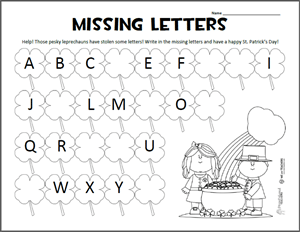 Missing Letters Preview