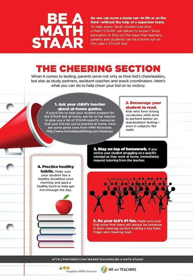 Parent Be a Math STAAR Poster