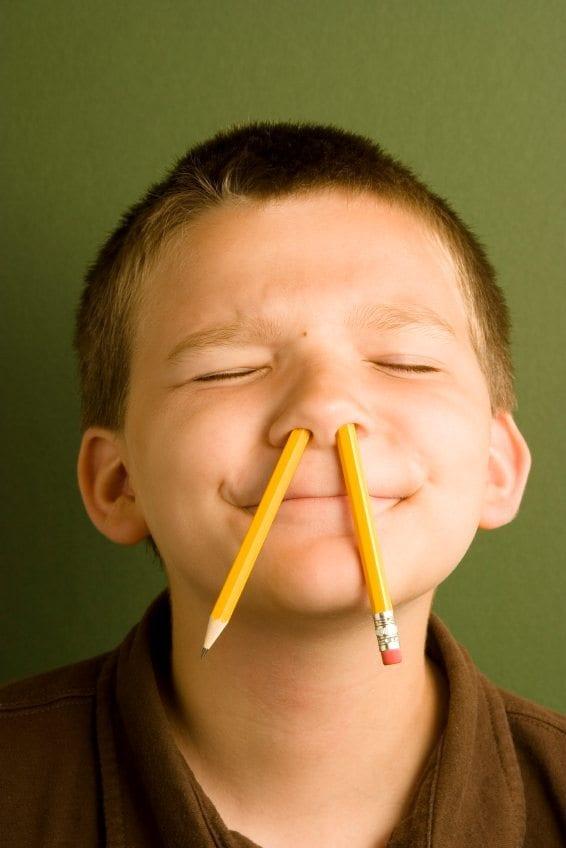 Pencil up nose