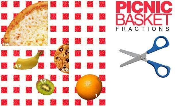 fraction games for kids picnic