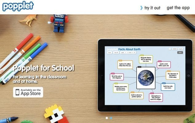 Popplet-Homepage