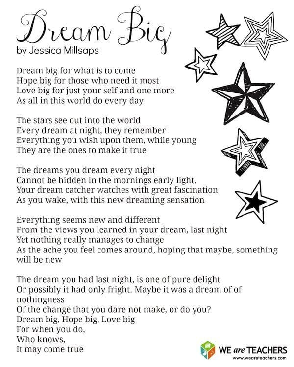 dream big poem