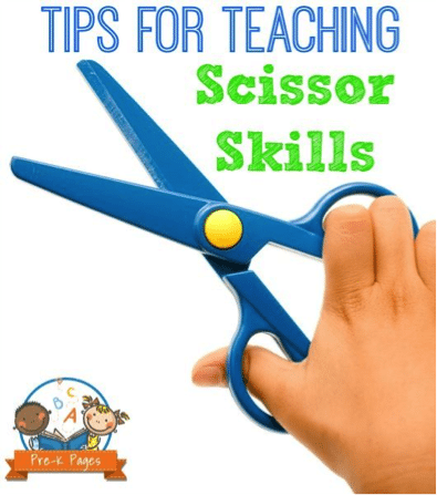 tips for teaching scissor skills