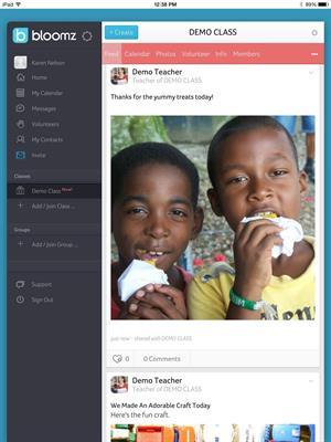Screen shot of Bloomz App