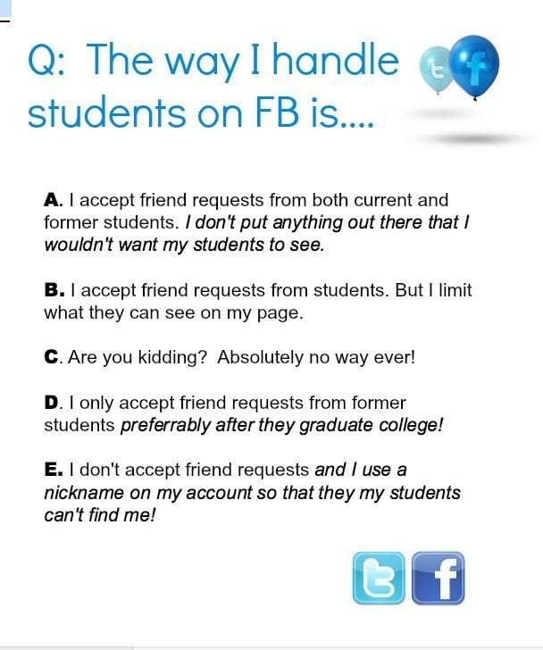 Should You Friend Your Students on Facebook?