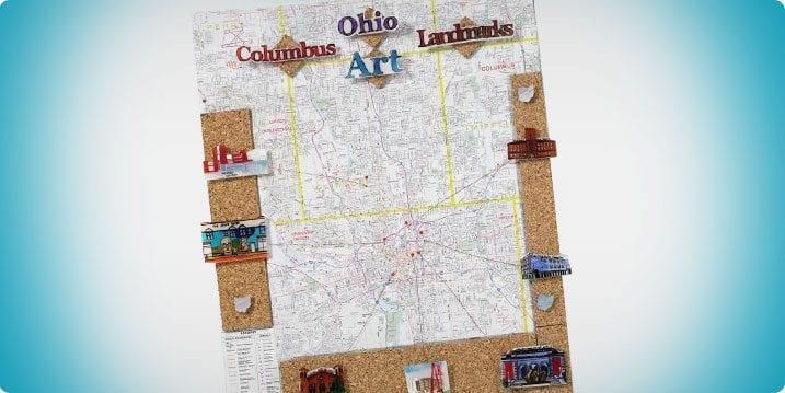 Shrink Art Landmarks Geography Lesson