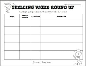 Spelling Word Round Up preview