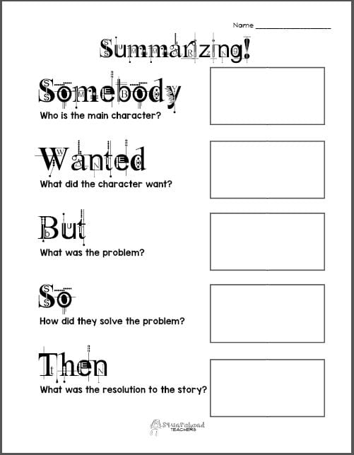 Summarizing Graphic Organizer 1 preview